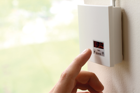 Manual activating ventilation with touch timer CTT-W-24V/230V