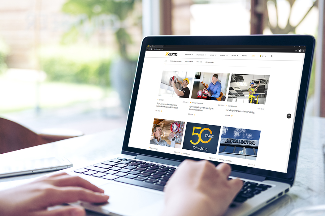 Calectro lanserar en ny bloggsida